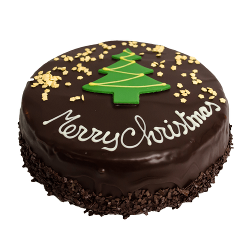 Chocolade Kersttaart