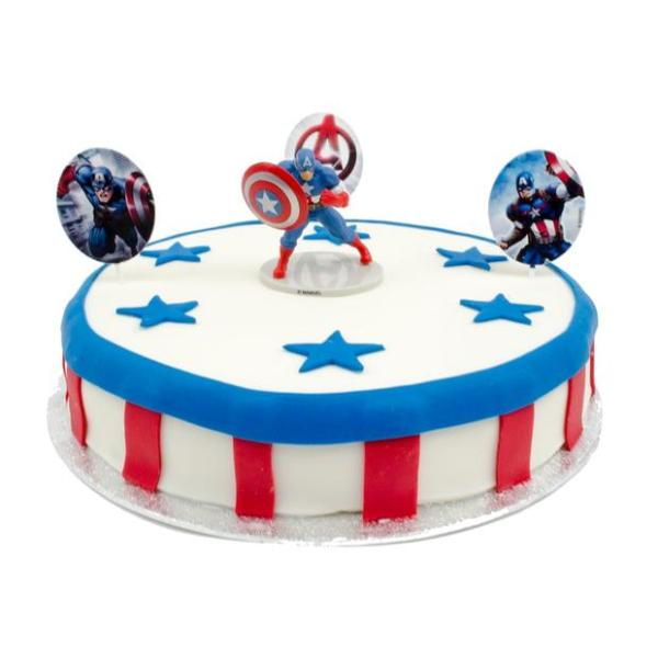 Captain America Marsepeintaart
