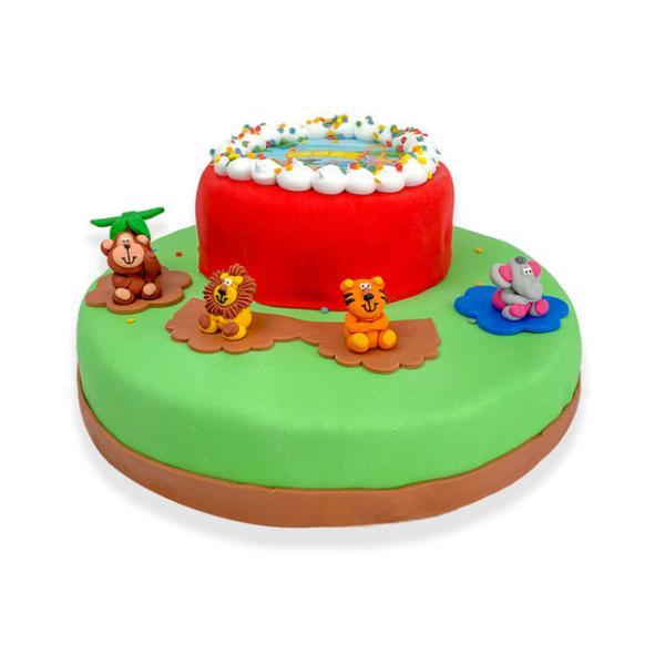 Dierentuin stapel taart