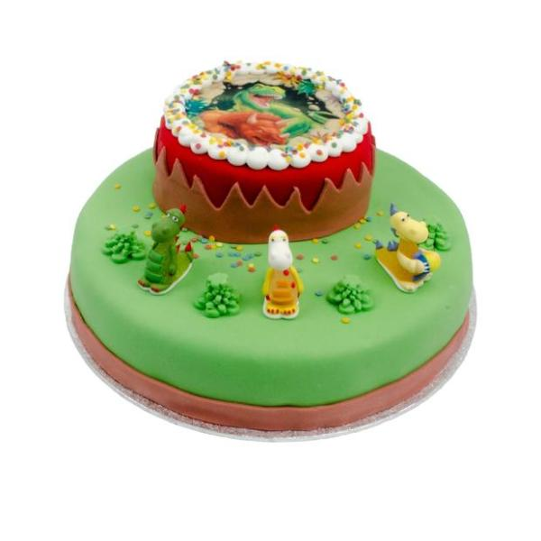 Dinosaurus stapel taart