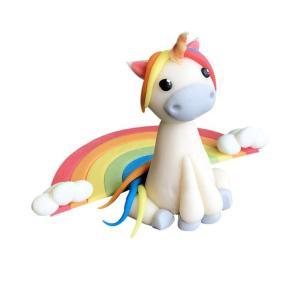 Unicorn rainbow Marsepein