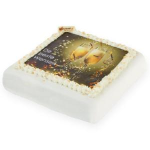 Nieuwjaars Marsepein taart