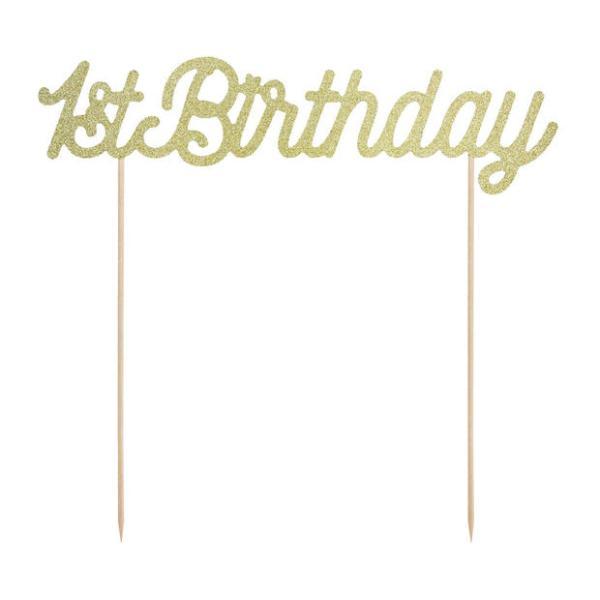 1st Birthday goud
