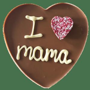 "Chocolade hart ""I love Mama"""