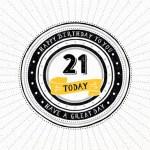 21 jaar verjaardagswens