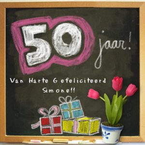 50 jaar verjaardagskaart Sarah