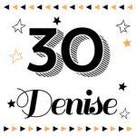 Verjaardagskaart 30 jaar
