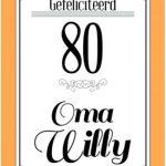 Verjaardagskaart 80 jaar