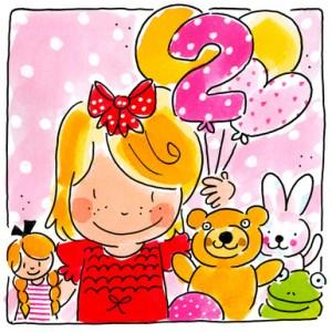 Verjaardagswens 2 jaar
