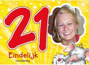 Verjaardagswensen 21 jaar