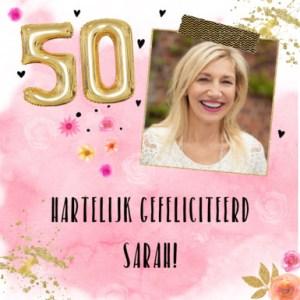 Verjaardagswensen Sarah 50 jaar