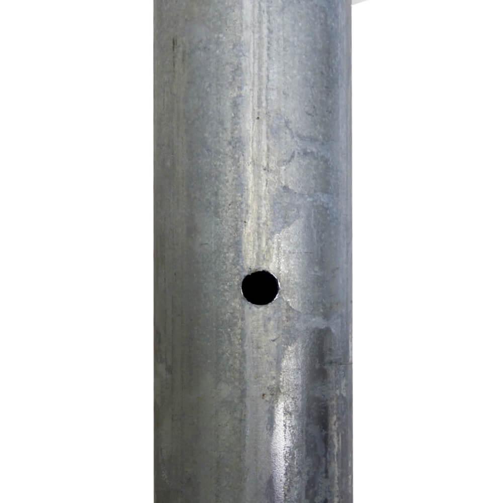 Rohrpfosten zum Einbetonieren Stahl Ø 60mm Länge 4000mm Wandstärke 2mm
