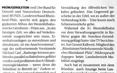 Bündnis kämpft weiter für Westeifelbahn