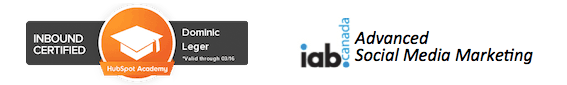 Certifié Hubspot Inbound Marketer et IAB Canada