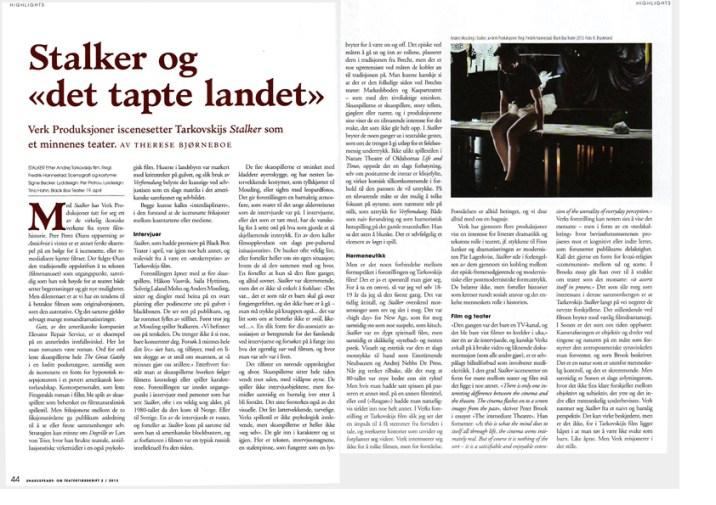 Norsk Shakespear Tidskrift, August 2013