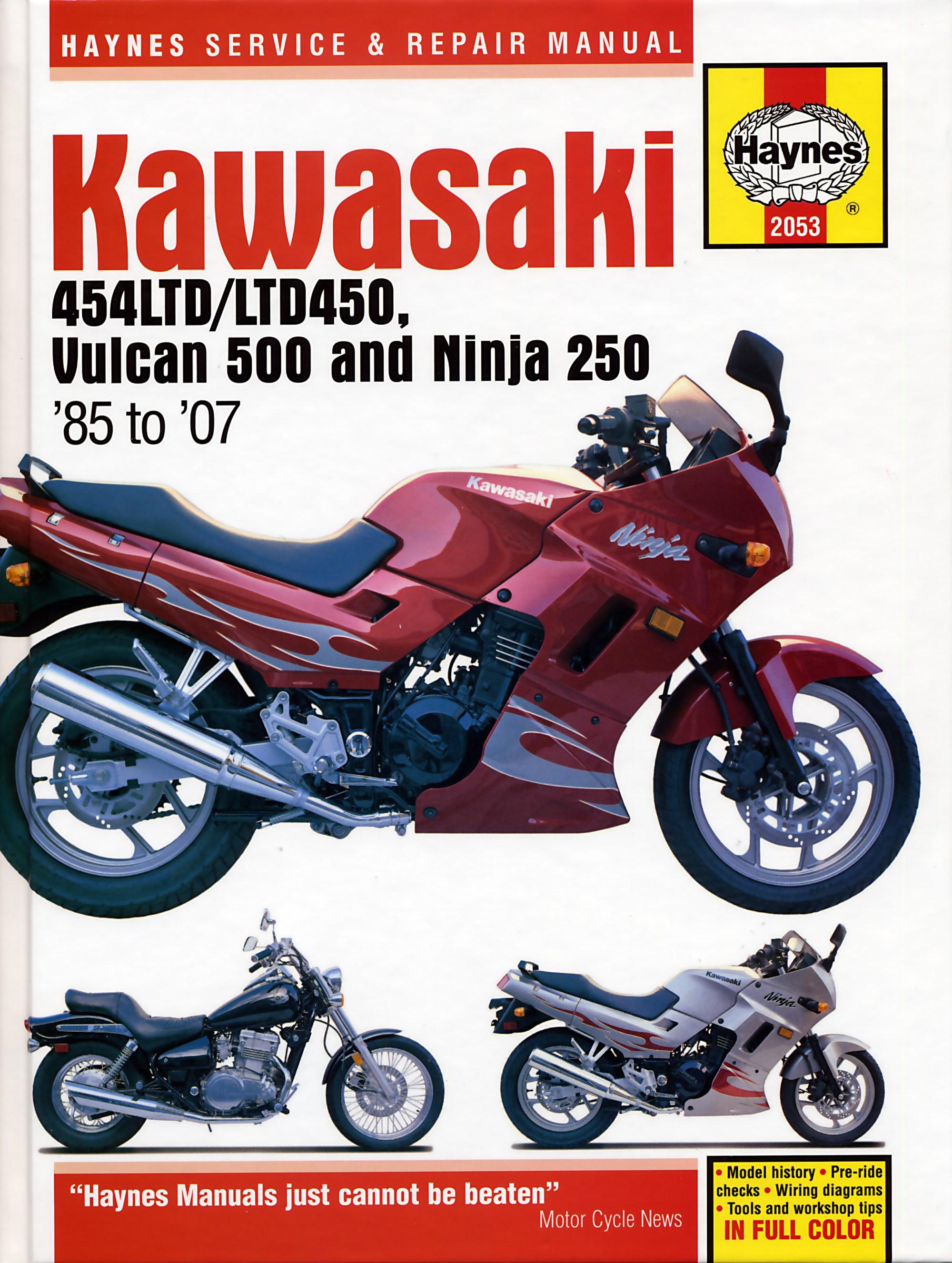 hight resolution of kawasaki 454ltd ltd450 vulcan 500 ninja 250 85 07 haynes repair manual haynes verkstadhanbokhaynes verkstadhanbok wiring diagram