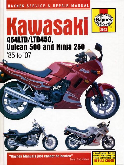 small resolution of kawasaki 454ltd ltd450 vulcan 500 ninja 250 85 07 haynes repair manual haynes verkstadhanbokhaynes verkstadhanbok wiring diagram