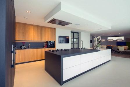Moderne Keuken Kookeiland Koof Ingebouwde Afzuigkap met Inbouwspots