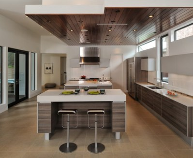 Moderne Keuken Verlaagd Plafond Kookeiland