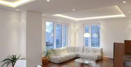 Woonkamer Verlaagd Plafond LED Verlichting en Inbouwspots