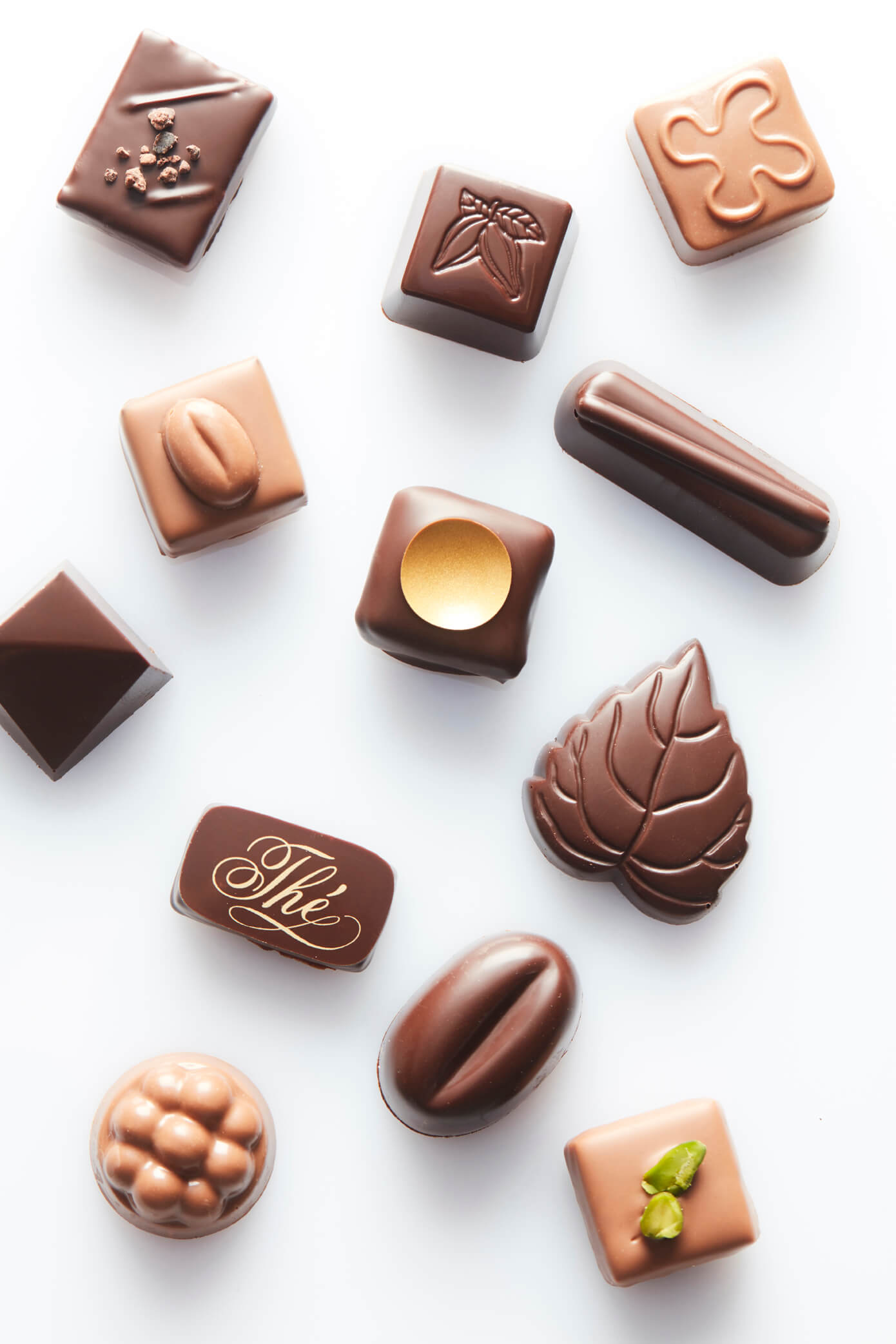 range of pralines
