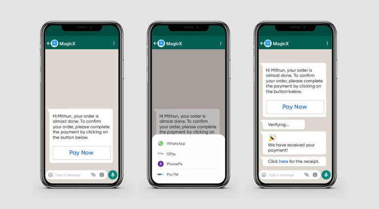 Steps involved in WhatsApp Pay for Business