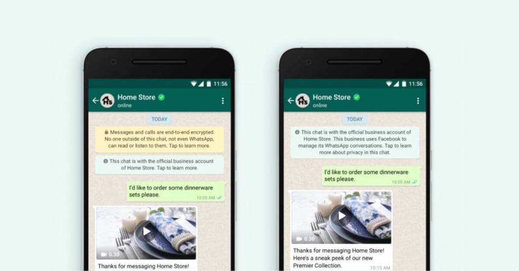 whatsapp notifying users about security and encryption