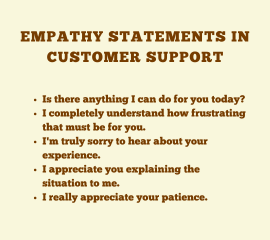 statements to say when dealing with angry customers