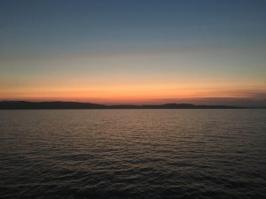 Sunset on Lake Champlain in Vermont