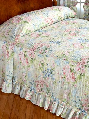 country chair pads vintage styles gardenscape ruffled plisse bedspread