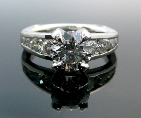 Tiger Prong Custom CAD Engagement Ring Front View