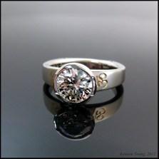 Custom CAD engagement ring in platinum
