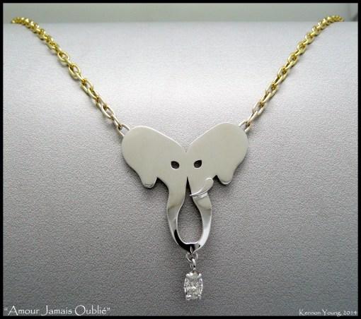 """Love Never Forgotten"" custom necklace"