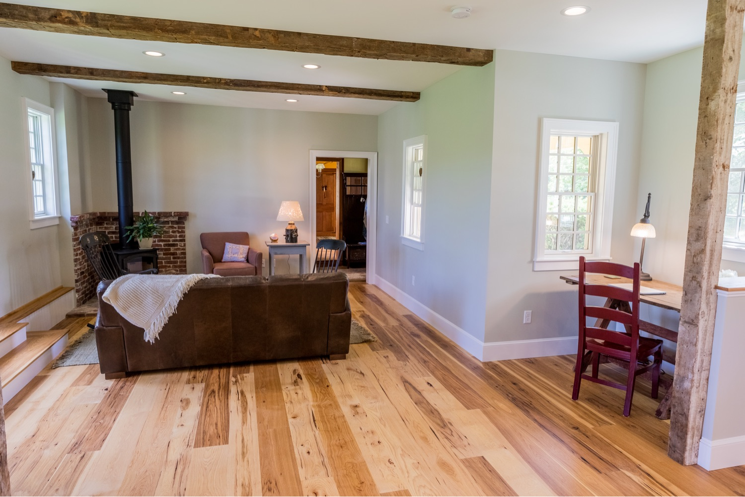 Engineered Character Grade Hickory Floor Vermont Plank