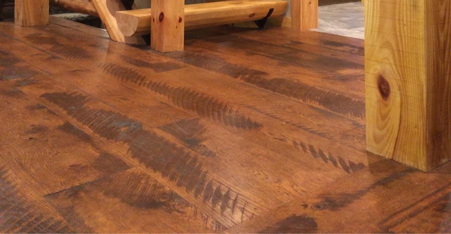 Hit  Miss Textured White Oak Floor  Vermont Plank Flooring