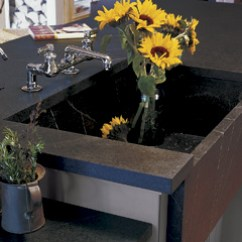 Kitchen Sinks With Drainboard Built In Orlando Hotels Full Soapstone Countertops - Vermont