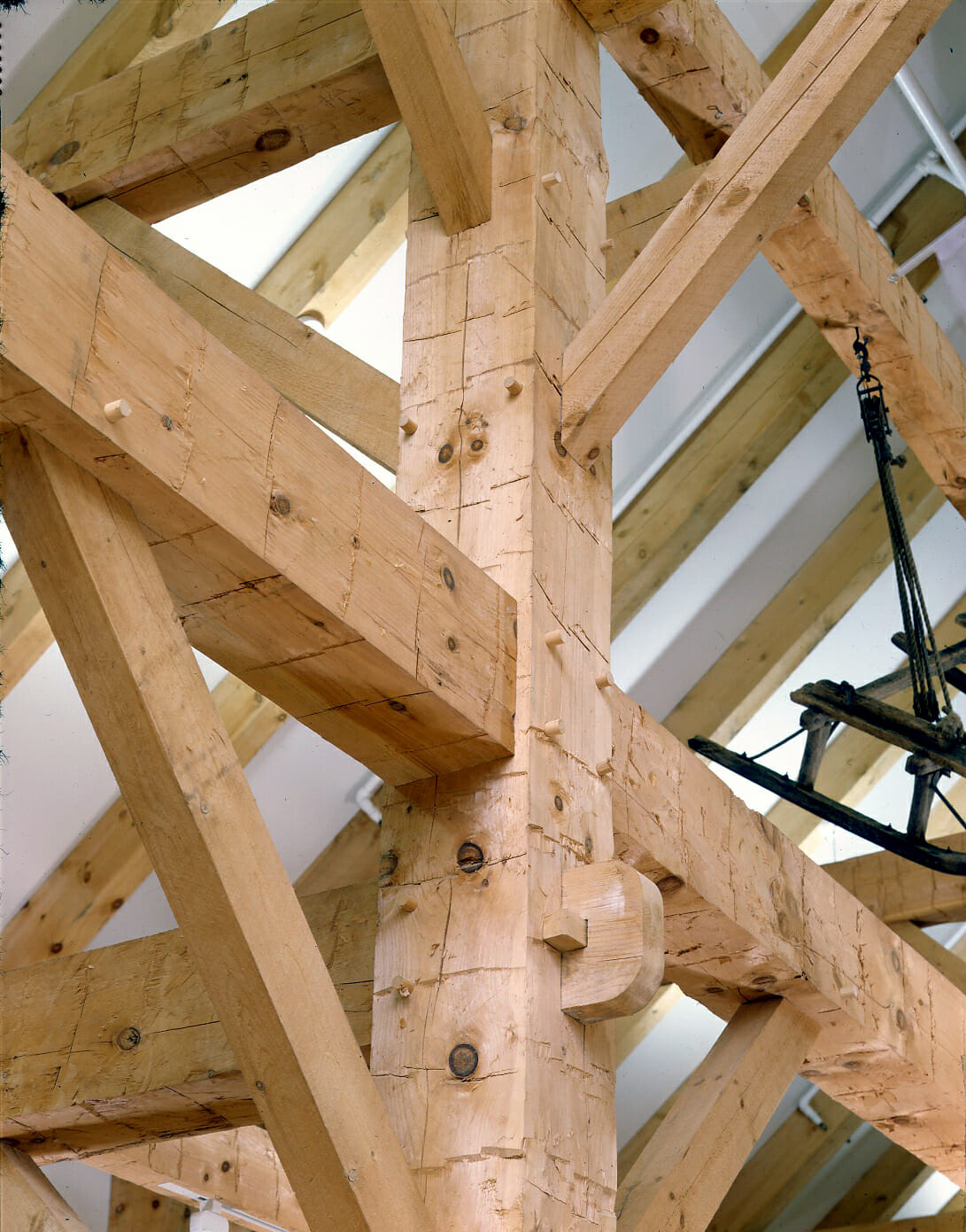 Knots In A Timber Frame