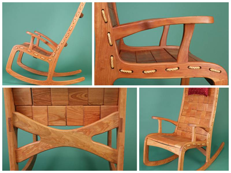 Custom Rocking Chairs Sink Into A Quilted Rocking Chair Vermont Woods Studios