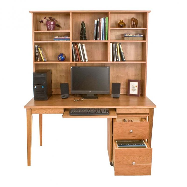 9 Natural Wood Desks To Update Your Home Office