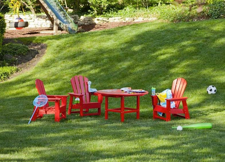 yellow adirondack chairs plastic chair lifts for sale polywood   why we chose recycled outdoor furniture vermont woods studios