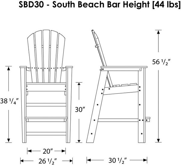 tall dining table and chairs dimensions hauck high chair polywood south beach bar height outdoor | adirondack style weatherproof recycled plastic ...