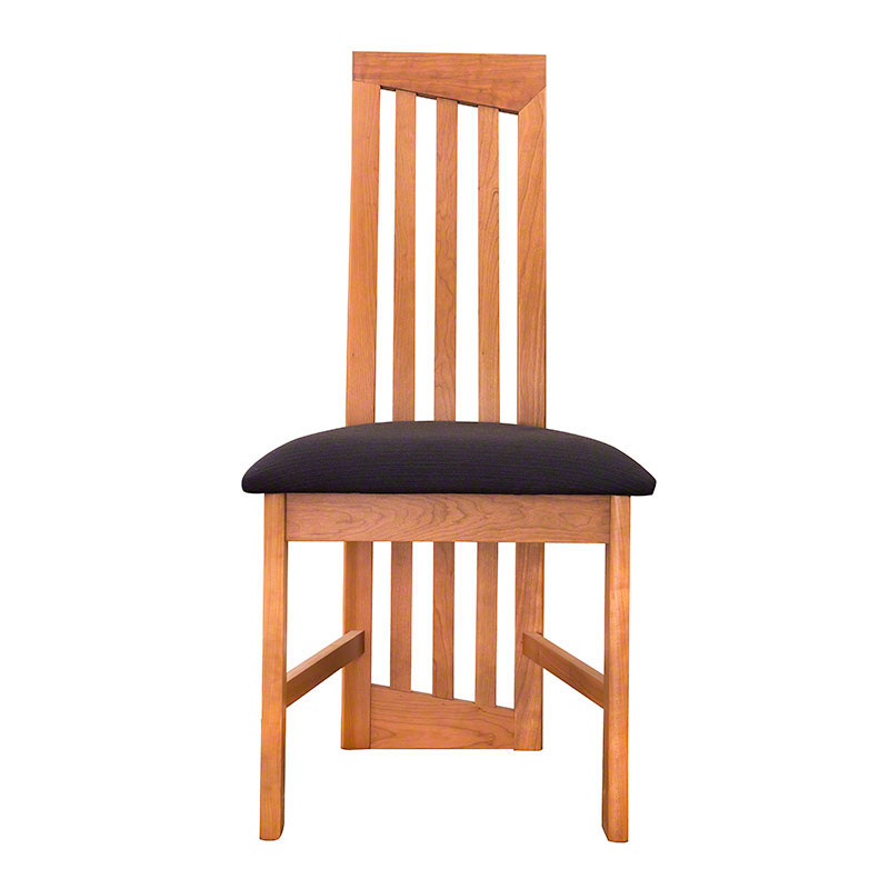 Modern High Back Dining Chairs Natural Cherry Handmade
