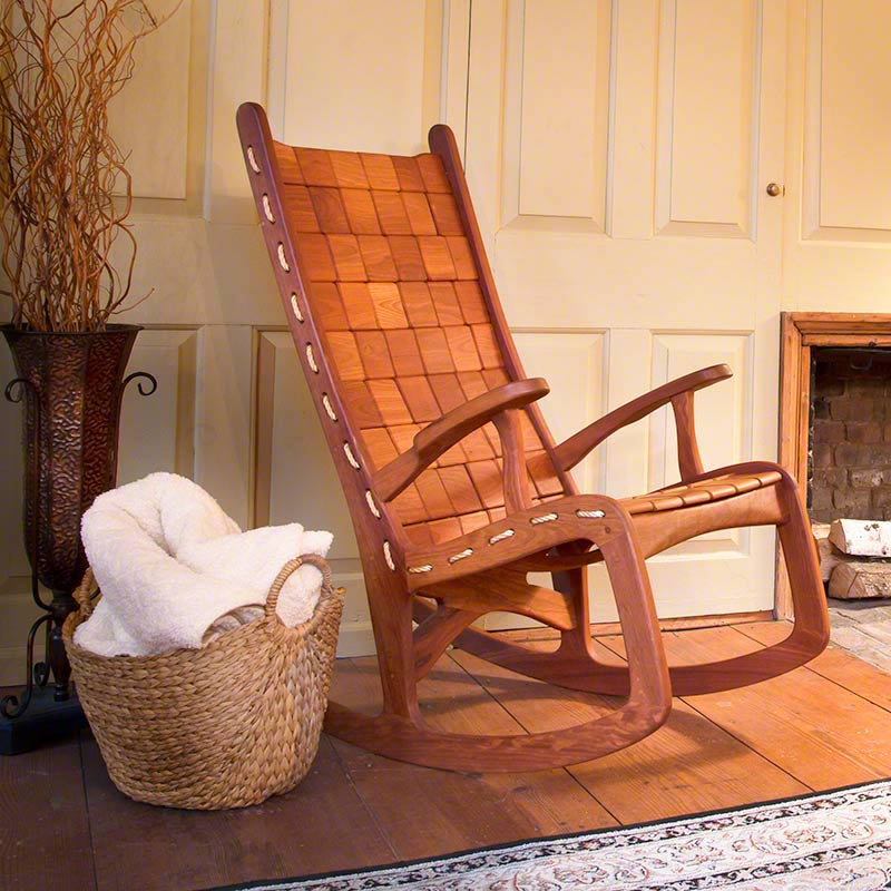 Unique Quilted Vermont Rocking Chair Hand Made Eco
