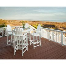Adirondack Bar Chairs Recycled Plastic Faux Wood