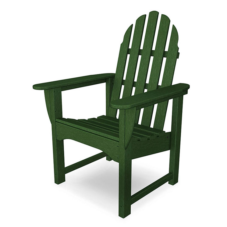 adirondack style dining chairs mima moon high chair review polywood outdoor casual all weather patio