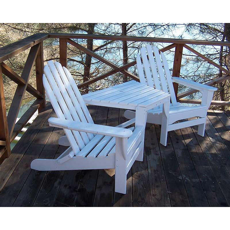 tete a chair outdoor cheap rental chairs and tables polywood adirondack weatherproof patio