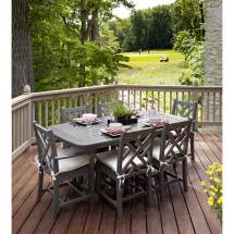 Weatherproof Dining Side Chair Polywood Durable Recycled