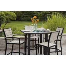 Outdoor Euro Bar Height Side Chair Polywood Commercial