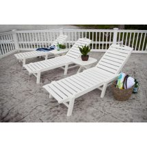 Polywood Nautical Chaise Outdoor Lounge Chair - Vermont