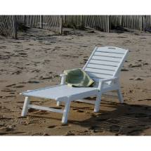 Polywood Nautical Chaise Lounge Chair With Arms - Vermont